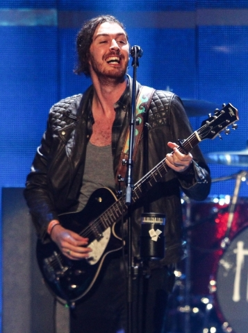 Hozier performs during the iHeartRadio Music Festival at the MGM Grand Garden Arena in Las Vegas on Saturday, Sept. 19, 2015. Chase Stevens/Las Vegas Review-Journal Follow @csstevensphoto