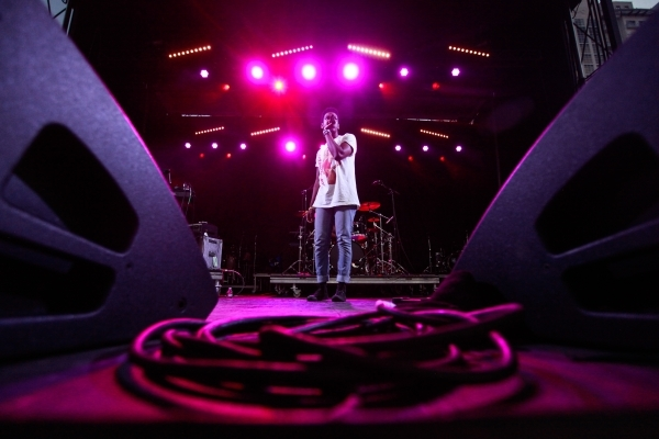 Shamir performs during the Life is Beautiful festival in downtown Las Vegas on Friday, Sept. 25, 2015. Chase Stevens/Las Vegas Review-Journal Follow @csstevensphoto