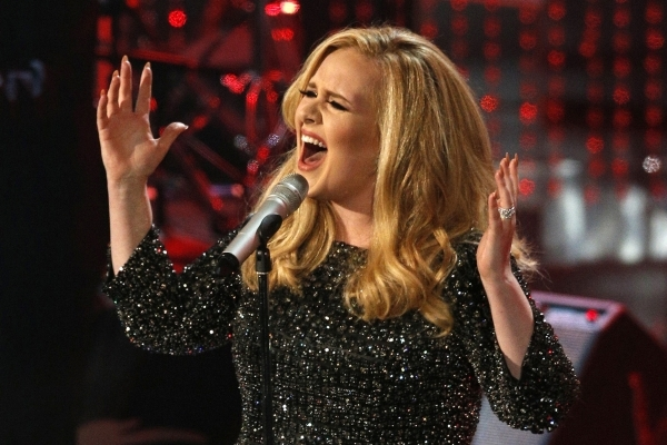 "British singer Adele performs the song ""Skyfall"" from the film ""Skyfall,"" nominated as best original song, at the 85th Academy Awards in Hollywood, California February 24, 2013 ..."