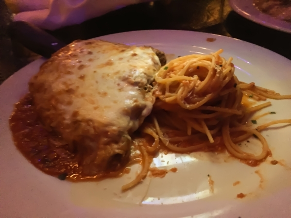 Capo's Parmagiana features breaded chicken topped with secret sauce and mozarella, served with spaghetti. (Caitlyn Belcher/Special to View)