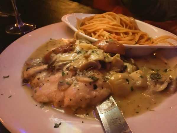 Capo's Restaurant & Speakeasy, 5675 W. Sahara Ave., offers a variety of Italian dishes, such as GottiþÄôs Chicken Angelo (chicken sauteed with artichoke hearts, roasted red pota ...