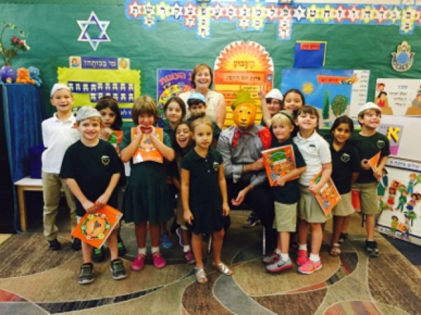 As part of their Hebrew curriculum, Solomon Schechter Day School's first-graders read a story about Adon Balon, Mr. Balloon. After reading the story and working through the accompanying less ...
