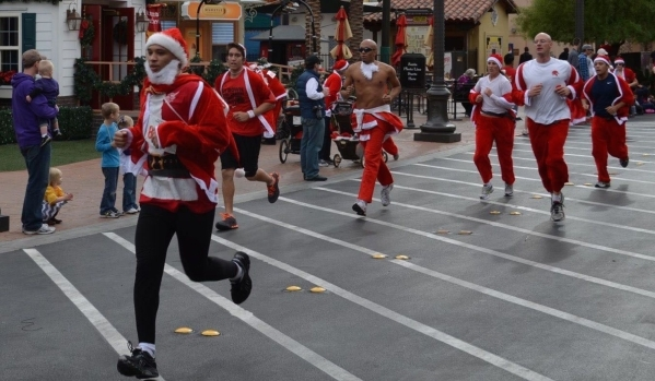 Runners participate in the 2012 Great Santa Run. Ginger Meurer/Special to View