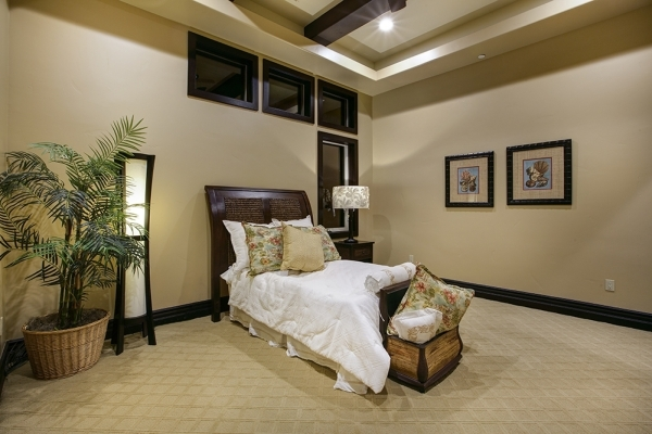 One of the secondary bedrooms in the home. COURTESY