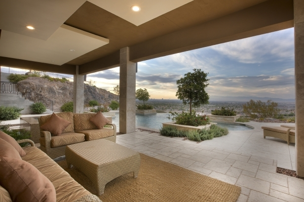 The home's patio. COURTESY