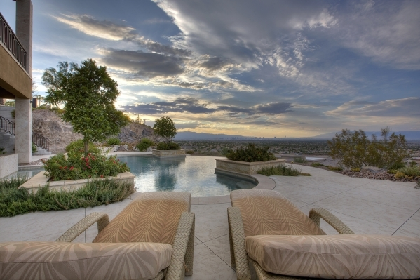 The home's pool looks over the valley. COURTESY