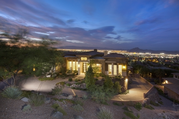 Las Vegas commercial developer Bill Takahashi recently completed  this home at 1504 View Field Court in MacDonald Highlands. It's listed at nearly $3.9 million. COURTESY