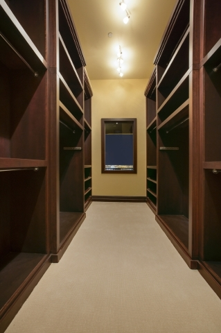 The home's closet. COURTESY