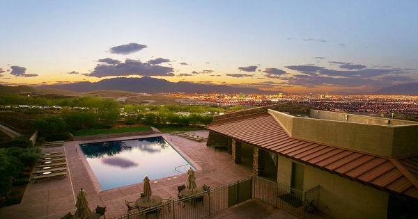 MacDonald Highlands' Dragon Ridge Country Club has a pool and sweeping views of the Las Vegas Valley. Courtesy