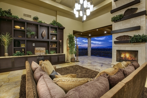 The home's living room opens to a balcony. COURTESY