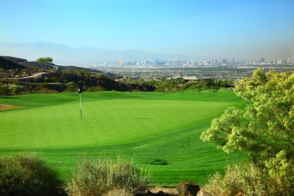 The Dragon Ridge Golf Course has sweeping views of the Las Vegas Valley. COURTESY