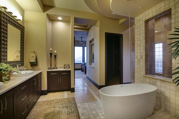 A soaking tub in the master bathroom. COURTESY