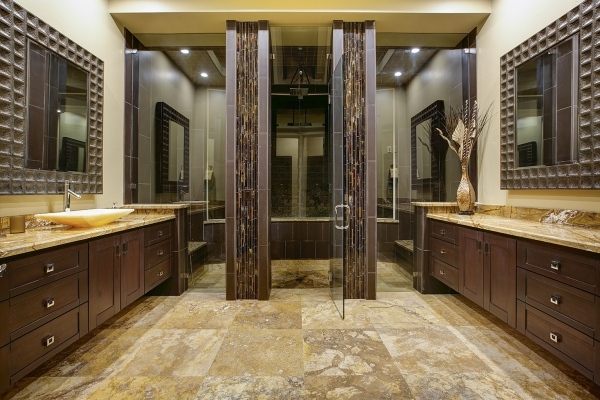 A secondary bathroom in the home. COURTESY