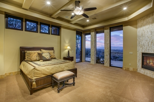 The master bedroom. COURTESY