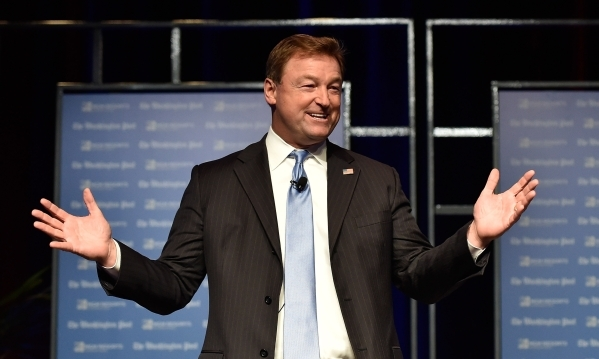 U.S. Sen. Dean Heller, R-Nev., speaks during the Washington Post's 2016 Pregame at the MGM Grand on Monday, Dec. 14, 2015, in Las Vegas. David Becker/Las Vegas Review-Journal