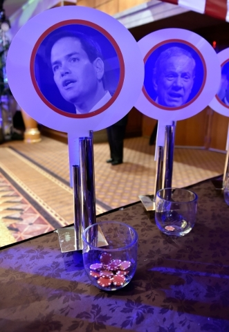 GOP presidential hopeful Marco Rubio was an obvious winner at an informal straw poll during Washington Post's 2016 Pregame at the MGM Grand on Monday, Dec. 14, 2015, in Las Vegas.  David Bec ...