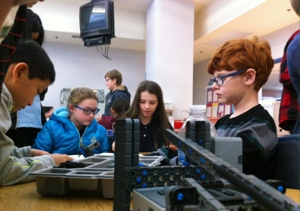Twitchell Elementary students take part in the school's new robotics program on Dec. 2. Cassandra Keenan/View