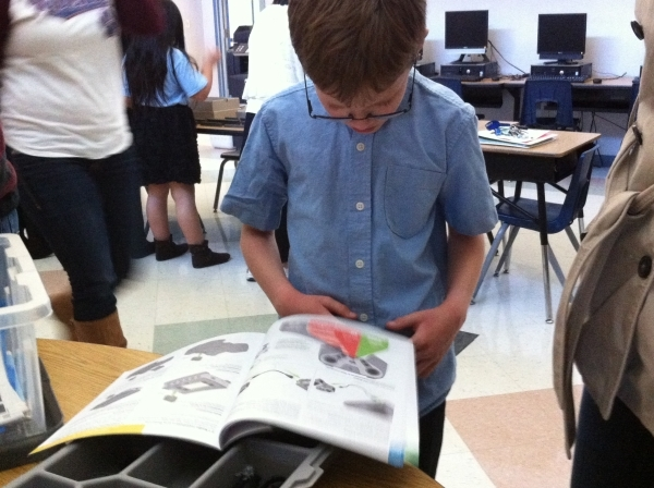 Xander Hamer, a fourth-grader at Twitchell Elementary, 2060 Desert Shadow Trail, participates in the school's new robotics program on Dec. 2. Cassandra Keenan/View