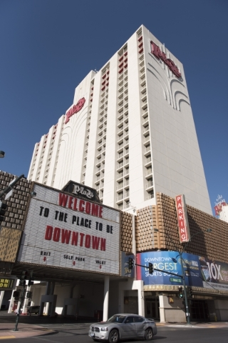 The Plaza hotel-casino at 1 S Main St. in Las Vegas is shown Tuesday, Dec. 1, 2015. Jason Ogulnik/Las Vegas Review-Journal
