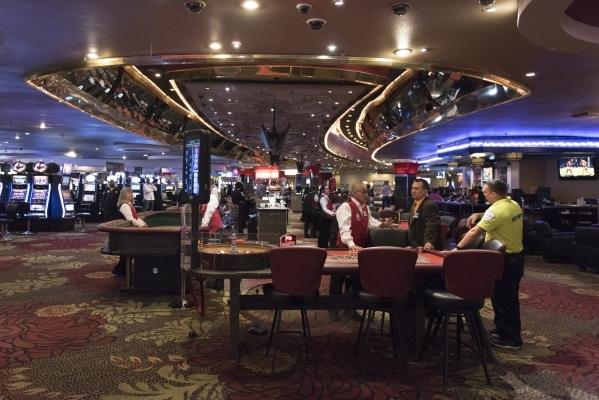 The casino floor at the Plaza hotel-casino in Las Vegas is shown Tuesday, Dec. 1, 2015. Jason Ogulnik/Las Vegas Review-Journal