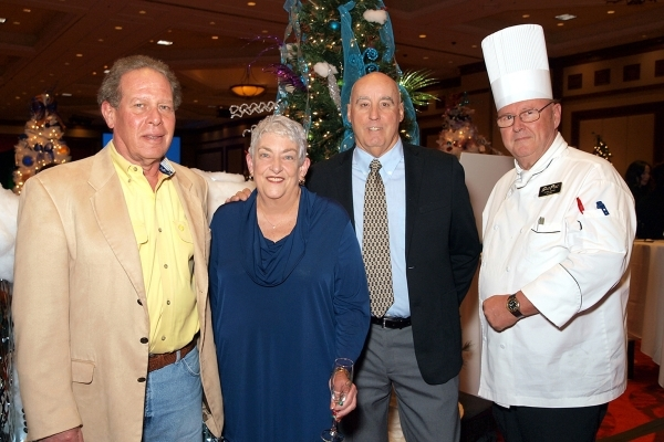 Rich Niederman, from left, Marie and Bill Smith and chef Chris Johns PHOTOS by MARIAN UMHOEFER/LAS VEGAS REVIEW-JOURNAL