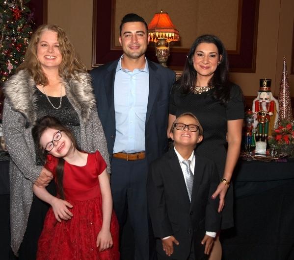 Johannah Back, clockwise from left, Rony Shamoud, Rana Mona, Luke Shamoud and Chloe Back