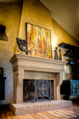 Daniel Coletti, president of Sun West Custom Homes LLC.,  says that some people are going all out and that instead of having mantels made from concrete to look like aged stone or marble, they are  ...