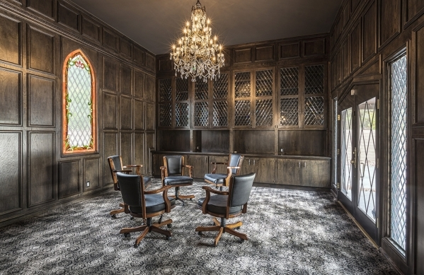 The castle at 500 Rancho Circle has an office. DAVID REISEMAN/REAL ESTATE MILLIONS