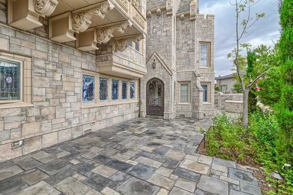 The castle in The Lakes has 144 custom windows of either stained- or beveled-glass. Mark Walton, a well-known leaded and stained-glass window designer from Campbell, Calif., created all the window ...