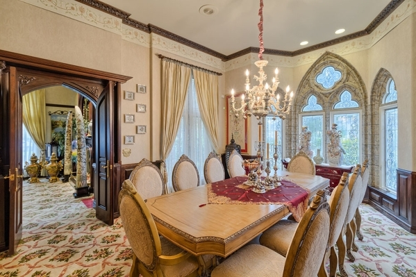 The Lakes home's dining room. COURTESY