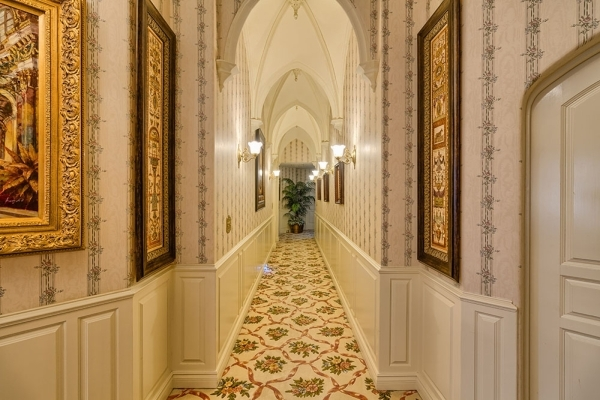 Hallways connect The Lakes castle's six bedrooms and six baths. COURTESY