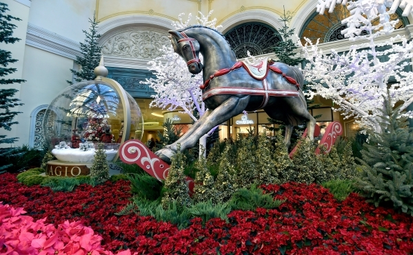Winter blooms at bellagio s conservatory photos las for When does las vegas decorate for christmas