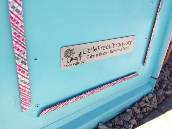 Each Little Free Library is tagged with a serial number. Since they began sprouting up, the grass-roots movement has seen 3,000 put up worldwide. Jan Hogan/View