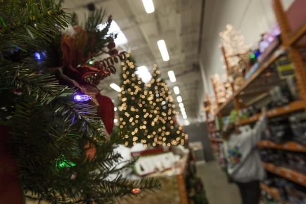 A costumer looks at Christmas LED lighting  at Home Depot,  1401 S. Lamb Boulevard on Thursday, Dec. 3, 2015.  Jeff Scheid/Las Vegas Review-Journal Follow him @jlscheid