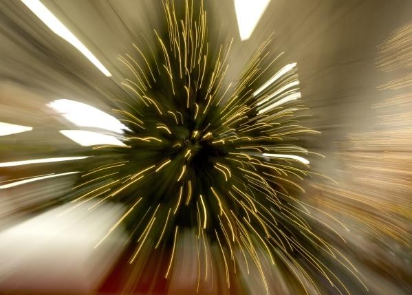 A zoom blur effect of a Christmas tree with LED lighting  at Home Depot,  1401 S. Lamb Boulevard on Thursday, Dec. 3, 2016.  Jeff Scheid/Las Vegas Review-Journal Follow him @jlscheid