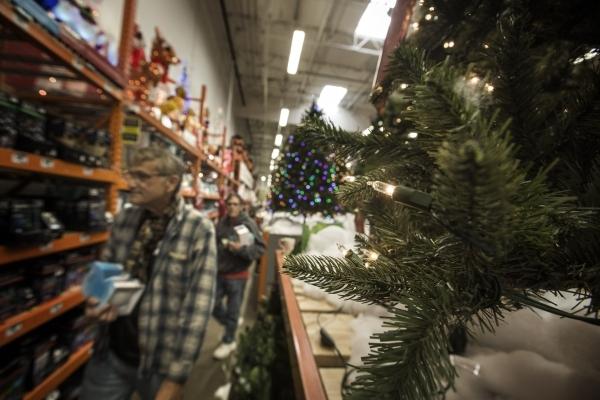 Costumers looks at Christmas LED lighting  at Home Depot,  1401 S. Lamb Boulevard on Thursday, Dec. 3, 2015.  Jeff Scheid/Las Vegas Review-Journal Follow him @jlscheid