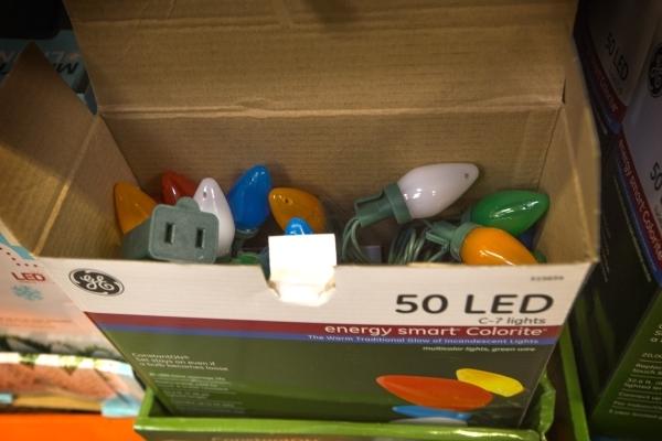 A box of LED Christmas lighting  at Home Depot,  1401 S. Lamb Boulevard on Thursday, Dec. 3, 2016.  Jeff Scheid/Las Vegas Review-Journal Follow him @jlscheid