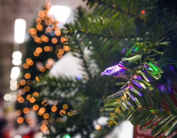 A Christmas tree LED lighting display is seen Thursday, Dec. 3, 2015 at Home Depot,   1401 S. Lamb Boulevard.  Jeff Scheid/Las Vegas Review-Journal Follow him @jlscheid