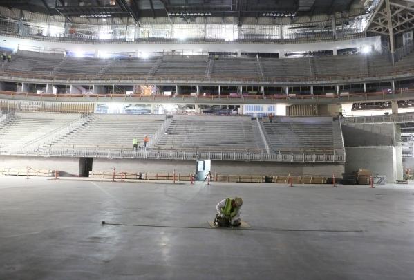 The new Las Vegas MGM-AEG Arena is shown on Thursday, Dec. 3, 2015. Bizuayehu Tesfaye/Las Vegas Review-Journal Follow @bizutesfaye