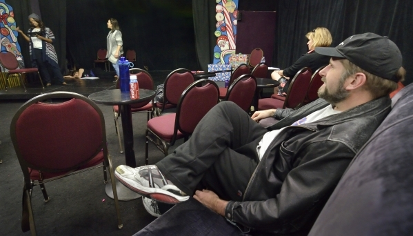 Troy Heard, producing artistic director at the Onyx Theatre, watches a rehearsal for þÄúReservoir DollsþÄù at the theater at 953 E. Sahara Ave. in Las Vegas on Monday, Dec. 7, 20 ...