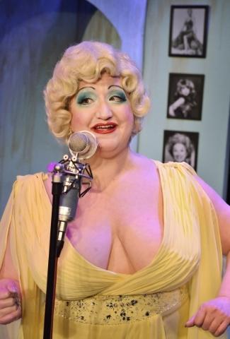Blanche DeBris rehearses for þÄúThe Blanche DeBris Emergency Xmas BroadcastþÄù at the Onyx Theatre at 953 E. Sahara Ave. in Las Vegas on Monday, Dec. 7, 2015. Bill Hughes/Las Veg ...