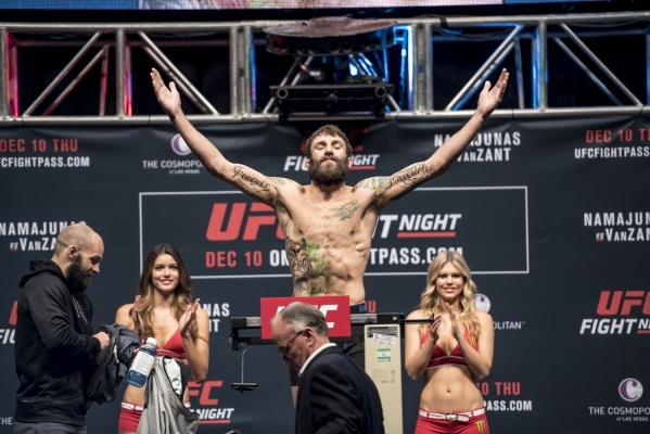 Michael Chiesa weighs in for UFC Fight Night at the MGM Grand Garden Arena in Las Vegas on Wednesday, Dec. 9, 2015. Joshua Dahl/Las Vegas Review-Journal