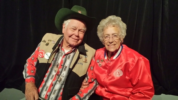 Harley Martin, left, and Katy Russell of Westmoreland, Calif., have been to every Wrangler National Finals Rodeo since it moved to Las Vegas in 1985, and they lauded the recent upgrades to the Tho ...