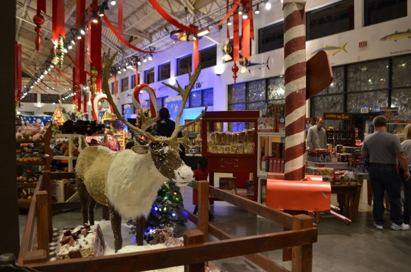 A giant talking reindeer welcomes visitors to Bass Pro Shops' Winter Wonderland. Ginger Meurer/Special to View