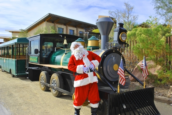 Santa Chris Sakmar will be waiting in his cottage when children get off the train at the Springs Preserve. Ginger Meurer/Special to View