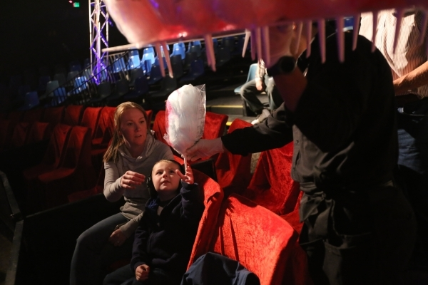 Megan Bridges buys cotton candy for her son Zane at the opening night for Circus Vargas at the Meadows Mall parking lot in Las Vegas Thursday, Dec. 11, 2015. Rachel Aston/Las Vegas Review-Journal  ...