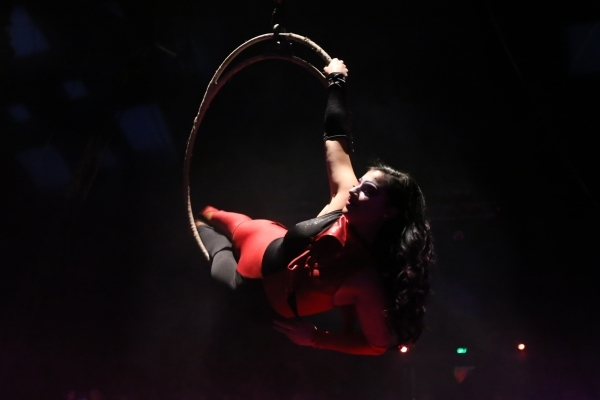 Annabelle Bachliyski performs during the opening night for Circus Vargas at the Meadows Mall parking lot in Las Vegas Thursday, Dec. 11, 2015. Rachel Aston/Las Vegas Review-Journal Follow@rookie__rae