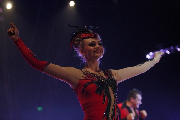 Cathy Poema during the opening night for Circus Vargas at the Meadows Mall parking lot in Las Vegas Thursday, Dec. 11, 2015. Rachel Aston/Las Vegas Review-Journal Follow@rookie__rae