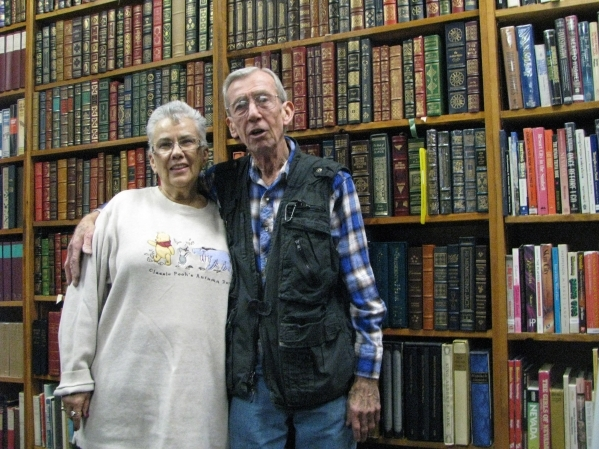Myrna and Lou Donato the owners of Amber Unicorn, 2101 S. Decatur Blvd. feel that leatherbound books are a great gift for anyone.  (F. Andrew Taylor/View)