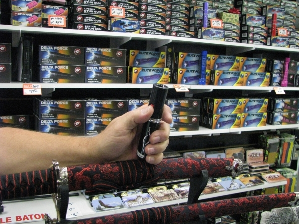 The Right Edge at Fantastic Indoor Swap Meet 1717 S. Decatur Blvd. carries a wide variety of decorative weapons and self defense options that might be just the right gift for someone including Han ...